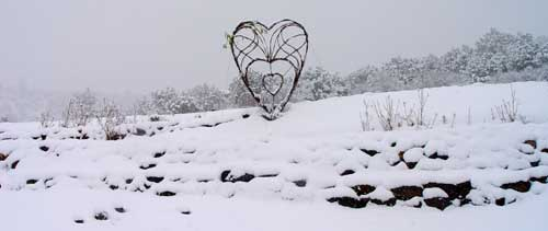 heart in snow